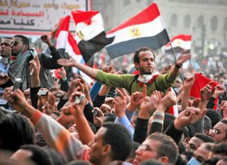 Opponents of Egypt's military rulers fill Tahrir Square in November 2011