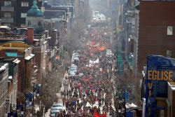 Students strike against tuition fee increases in Quebec